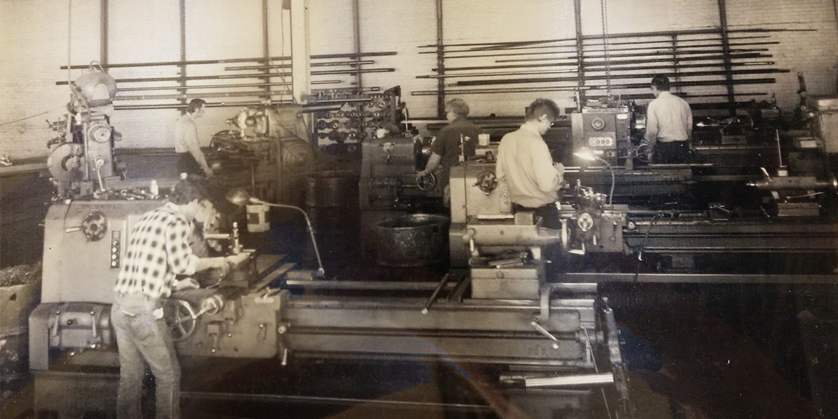 vintage industrial fabrication workers