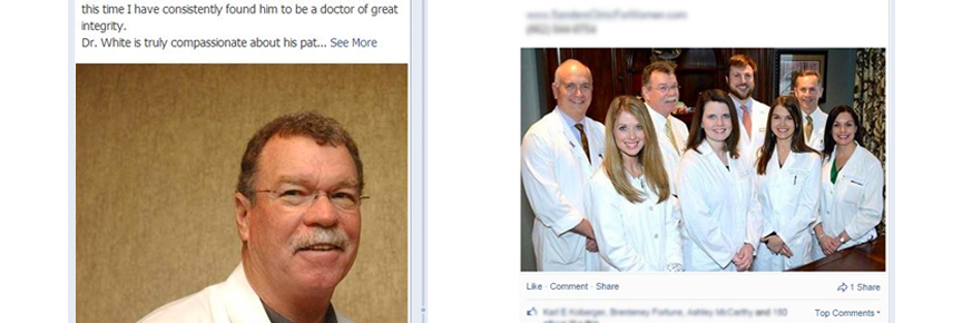 medical facility facebook page example