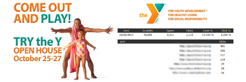 local ymca advertisement with statistics
