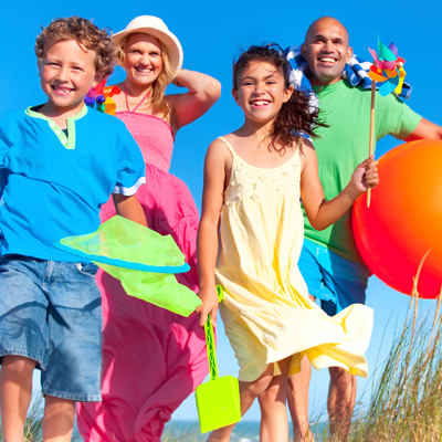 travel family example image on beach